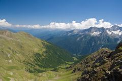 Val di Sole, aerial view Stock Photography