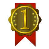 Val för emblem för nummer ett bästa Arkivfoto