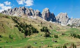 Val Gardena в итальянских доломитах стоковое фото rf