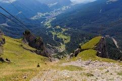 Val Gardena in Alps Royalty Free Stock Image