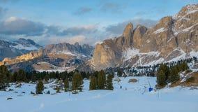 Val Gardena, beautiful early winter and spring alpine scenery Stock Photo