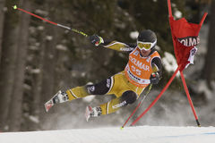 Val Gardena Downhill Stockfotos