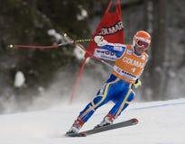 Val Gardena Downhill Lizenzfreie Stockfotografie