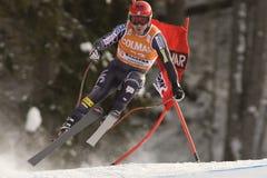 Val Gardena Downhill Lizenzfreie Stockbilder