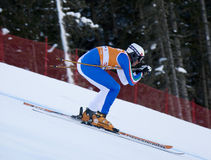 Val Gardena downhill training 2 Royalty Free Stock Image