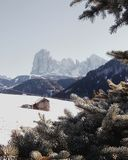 Val Gardena landscape. Val gardena mountains Stock Photo