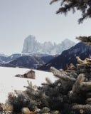 Val Gardena landskap Arkivfoto