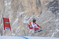 Val Gardena 2nd downhill training Royalty Free Stock Images