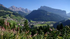 Val Gardena St. Christina in Alps. Italy stock video footage