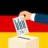 Val i Tysklandbegrepp vektor illustrationer