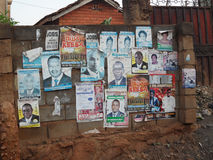 Val i Uganda Arkivfoton
