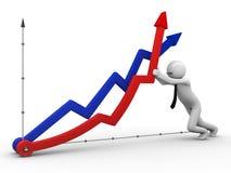 Val niet, economie Stock Foto