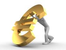 Val niet, EURO royalty-vrije illustratie