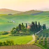 Val δ ` Orcia, Τοσκάνη, Ιταλία στοκ εικόνες