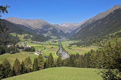 Val Ridanna - Ridnauntal (Alto Adige). The beautiful valley of Ridnauntal in summer stock photography