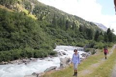 Val roseg trek Stock Image