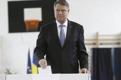 Val Rumänien Klaus Iohannis Royaltyfria Foton