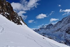 Val Senales Italien Arkivfoto
