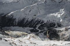 Val Senales vinter i Italien Royaltyfri Foto