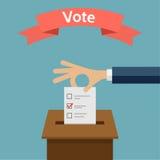 Val som röstar illustrationen för vektor för begreppslägenhetstil Royaltyfri Fotografi