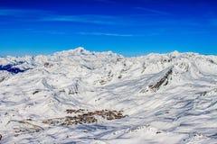 Val-Thorens de cima de Fotografia de Stock