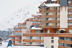 Val Thorens después de nevadas pesadas Imagen de archivo