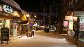 Val Thorens high street Royalty Free Stock Image