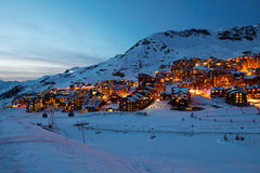 Val Thorens by night Stock Image