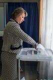 Val till den statliga Dumaen från den ryska federationen 18 September 2016 i den Kaluga regionen Arkivbild