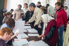 Val till den statliga Dumaen från den ryska federationen 18 September 2016 i den Kaluga regionen Royaltyfri Bild