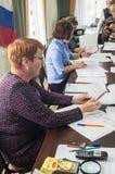 Val till den statliga Dumaen från den ryska federationen 18 September 2016 i den Kaluga regionen Royaltyfria Bilder
