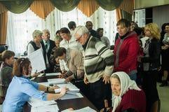 Val till den statliga Dumaen från den ryska federationen 18 September 2016 i den Kaluga regionen Royaltyfri Fotografi