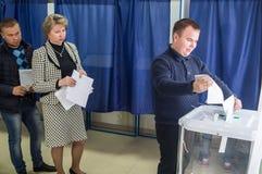 Val till den statliga Dumaen från den ryska federationen 18 September 2016 i den Kaluga regionen Royaltyfria Foton