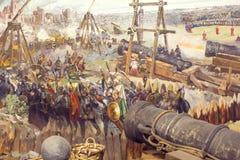 Val van Constantinopel royalty-vrije stock afbeelding