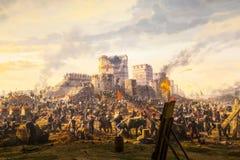 Val van Constantinopel in 1453 stock foto