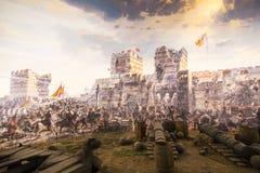 Val van Constantinopel in 1453 royalty-vrije stock foto