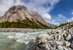 Val Veny, итальянка альп Стоковые Фотографии RF