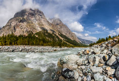 Val Veny, Alpes italiens Photos libres de droits