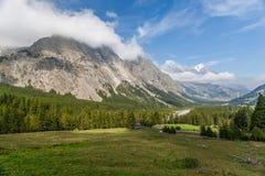 Val Veny, Italia - la valle e le montagne Immagine Stock