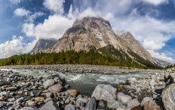 Val Veny, italienische Alpen stockbilder