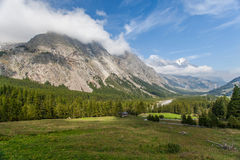 Val Veny, Italy - The Valley And The Mountains Stock Image