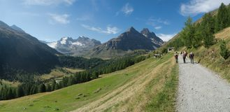 Hiking in the Val Viola, Italy royalty free stock image