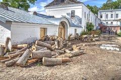Valaam Территория монастыря стоковые фотографии rf