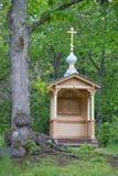 Valaam 教堂极度痛苦在庭院里 免版税库存图片