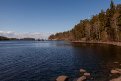 Valaam is a cozy and quiet piece of land. Valaam is the largest of the Islands, so often these two concepts are not distinguished. Pilgrims come here to touch Royalty Free Stock Photography