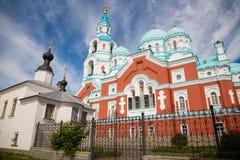 Valaam Savior Transfiguration Spaso-Preobrazhensky monastery i Stock Photos