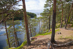 Valaam. View from the mountain Eleon. Valaam. Sortavala area. Russian Federation. View from the mountain Eleon Stock Image