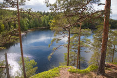 Valaam. View from the mountain Eleon Royalty Free Stock Images