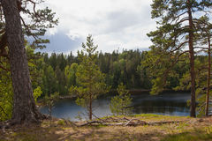 Valaam. View from the mountain Eleon Royalty Free Stock Image