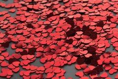 Valanga del cuore del biglietto di S. Valentino Fotografia Stock